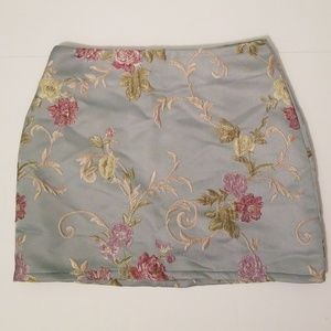 Embrodiered Honey Punch Mini Skirt